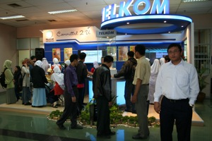 Me in front of Telkom Booth